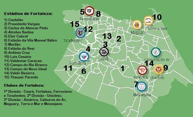 Conheça clubes e estádios de Fortaleza