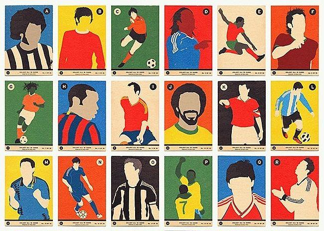 Adivinhe os jogadores em cards de futebol