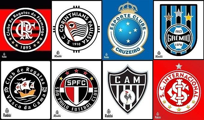 Designer desenha novos escudos de clubes