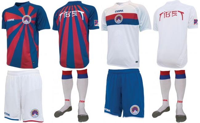 Seleção do Tibet tem camisa de primeira