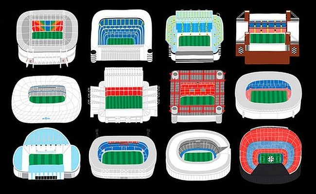 Estádios do designer Oscar Bolton Green