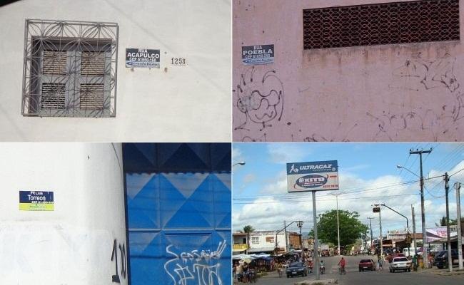 Caucaia tem diversas ruas que remetem ao México