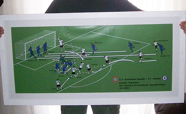 Designer vende ilustrações de gols