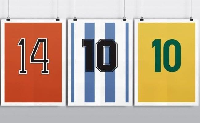 Pôsteres de números de camisas de gênios