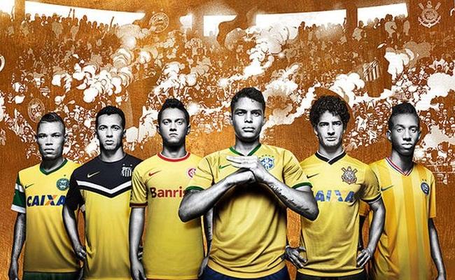 Nike lança camisas amarelas de clubes
