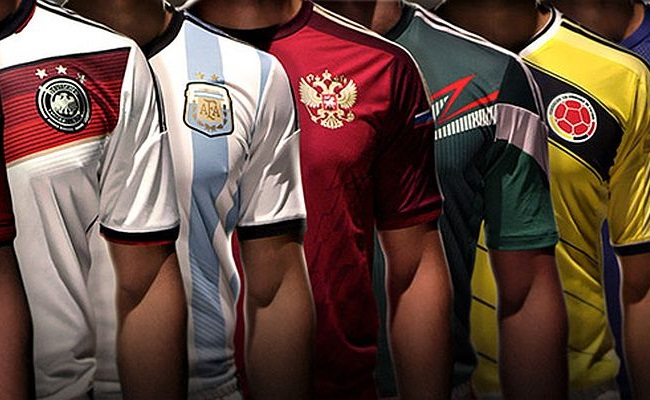 Todas as camisas da Copa do Mundo de 2014