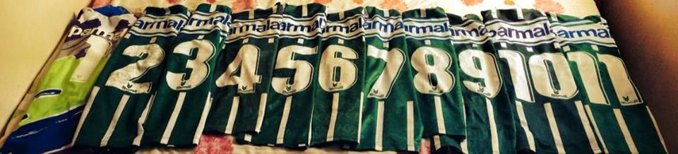 Fã tem as 11 camisas do Palmeiras de 1993