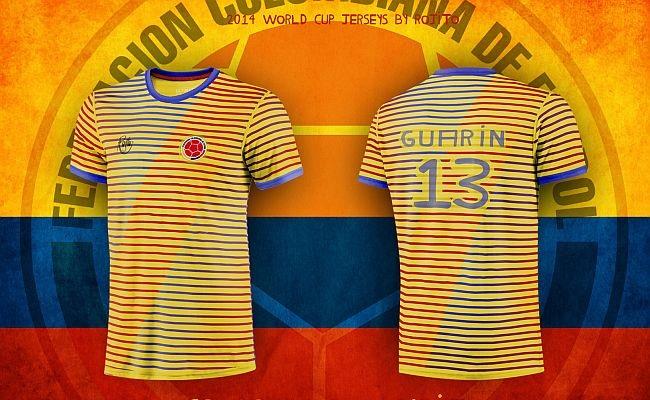 Camisas da Copa com toque de ousadia