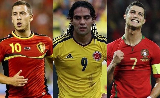 Bélgica, Colômbia e Portugal bem cotadas