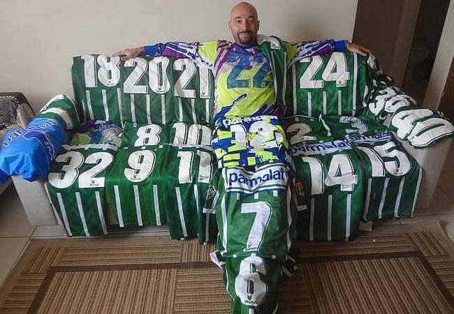 Fã tem 38 camisas do Palmeiras 1993/1996