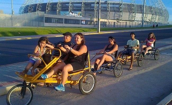 Bicicletáxis levarão torcida ao Castelão