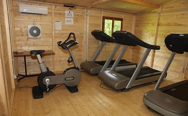 Itália montou academia em sauna