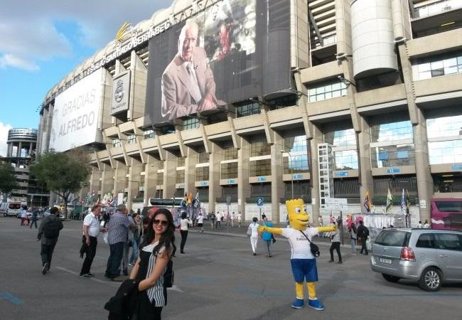 Eu vi o Real Madrid no Santiago Bernabéu