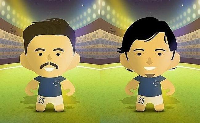 Toy art do elenco do Cruzeiro de 2014
