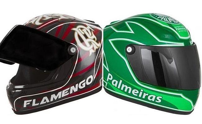 Times ganham capacetes e mini-capacetes