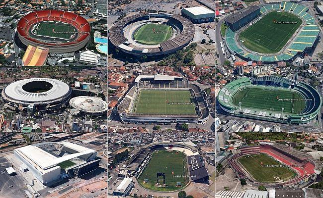 Veja estádios da Série A no Google Earth