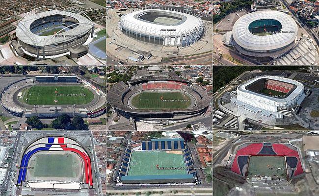 Veja estádios da Série B no Google Earth