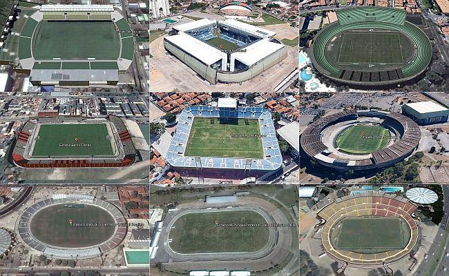 Veja estádios da Série C no Google Earth