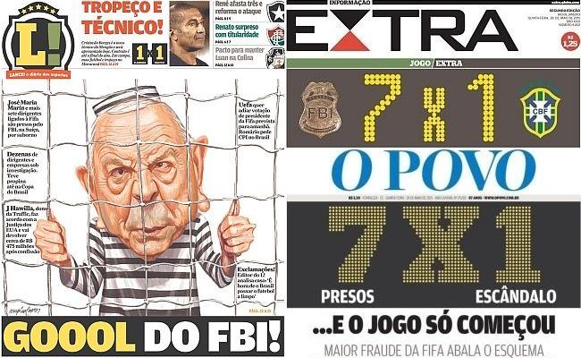 50 capas de jornais sobre a crise da Fifa