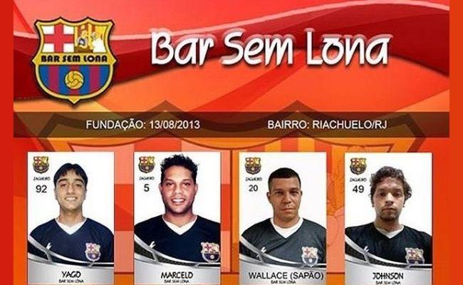 Bar Sem Lona, o Barcelona mais engraçado