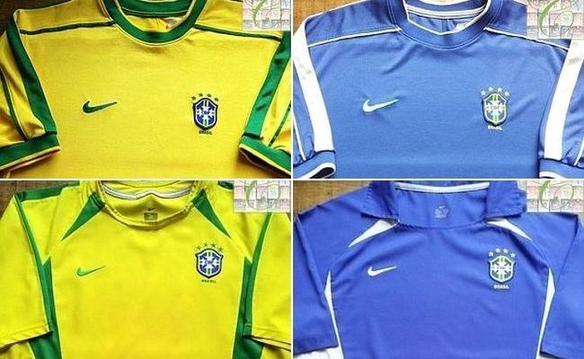 Concorra a camisa do Brasil de 1998 ou 2002