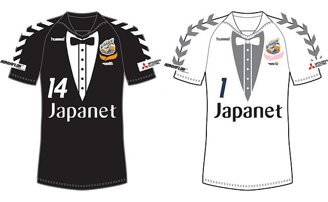 Time japonês ganha camisa de smoking