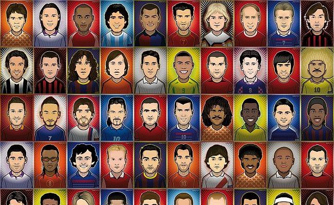 Adivinhe 50 jogadores em cards de futebol