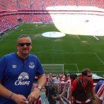 Graeme Holmes, torcedor do Everton, já foi a cerca de 5 mil jogos, em 2.044 estádios (Foto: Acervo pessoal)