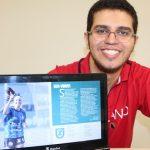 Felipe Augusto, de Maringa-PR, lançou revista digital sobre futebol alternativo (Foto: Divulgação)