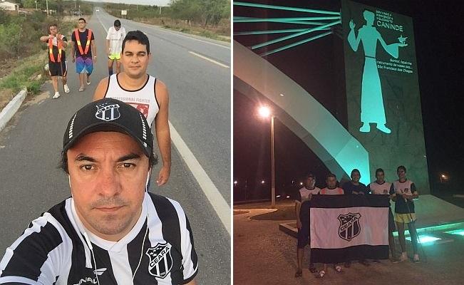 Torcedores do Ceará andam 110 km após promessa