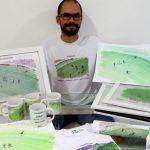 Wedscley Oliveira de Melo lançou a Faz Meu Gol, que produz itens com desenhos de gols (Foto: Divulgação)