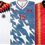 O brechó inglês Classic Football Shirts oferece mais de 100 camisas da Copa de 1994 (Foto: Reprodução)