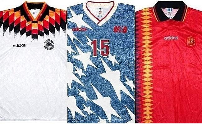 16 camisas da Copa de 1994 em brechó inglês