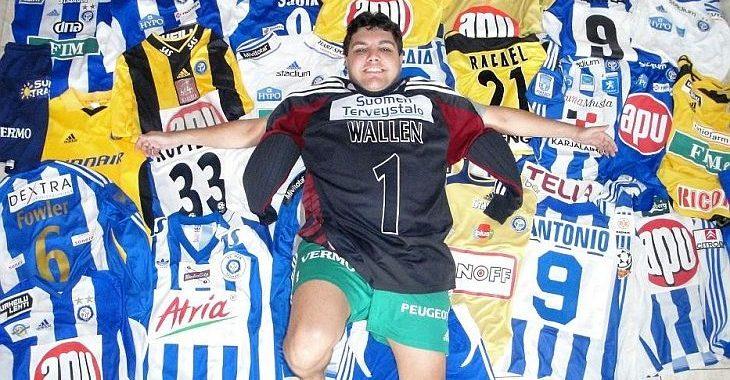 Colecionador tem 170 camisas de times da Finlândia. Até da 6ª divisão!