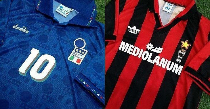 10 camisas retrô da loja italiana Sport World Shop