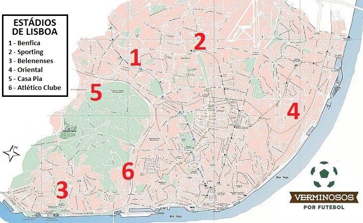 benfica lisboa mapa Futebol em Lisboa vai muito além de Benfica e Sporting benfica lisboa mapa
