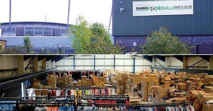 Brechó inglês reúne 600 mil camisas de futebol em galpão em Manchester