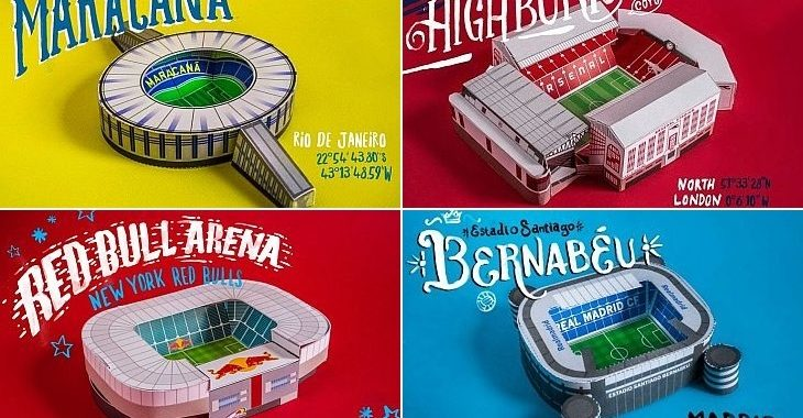 Site disponibiliza miniaturas de estádios para montar com papel