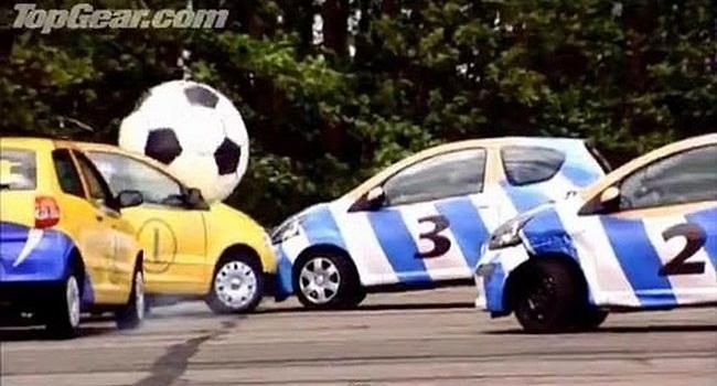 Veja desafios de futebol do Top Gear