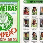 Álbum de figurinhas comemorou o fim do jejum de 16 anos do Palmeiras (Foto: Reprodução)