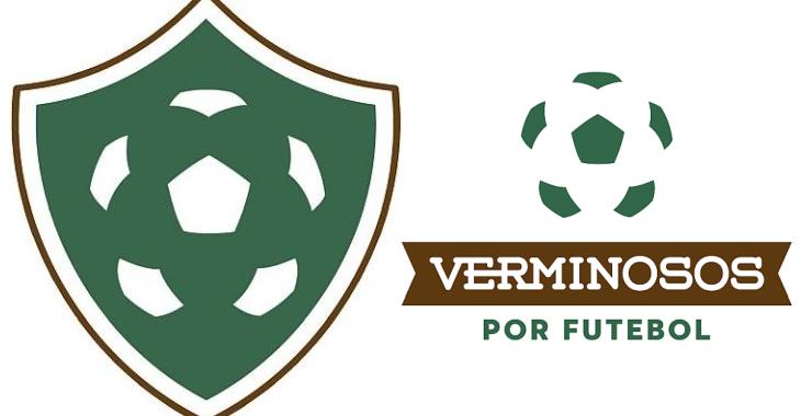 Verminosos por Futebol agora tem um escudo. Ao estilo minimalista