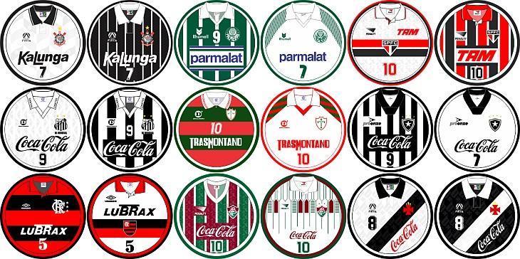 Site vende artes de futebol de botão do Campeonato Brasileiro de 1993