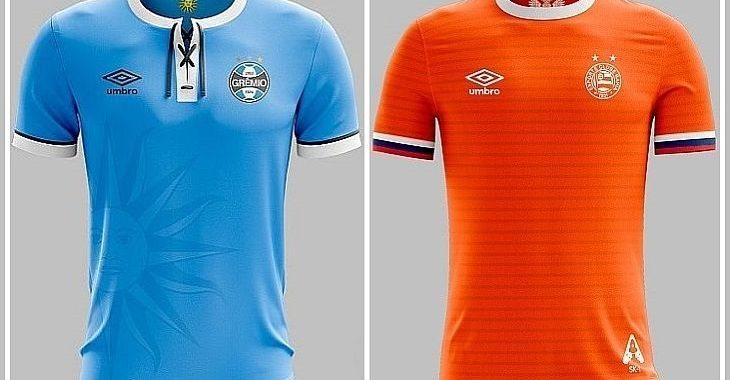 Designer imagina camisas de times do Brasil inspiradas nas seleções da Copa de 2018