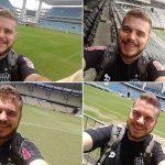 Lucas Abdo viu jogos em 6 dos 12 estádios visitados (Foto: Acervo pessoal)
