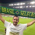 O paulista Miguel Freitas foi a jogos de gigantes a nanicos (Foto: Acervo pessoal)