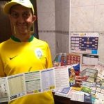 Até esta matéria, Augusto já tinha 102 tabelas da Copa de 2018 (Foto: Acervo pessoal)