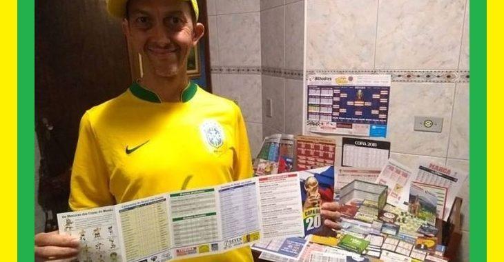 Este cara está preenchendo mais de 100 tabelas da Copa do Mundo de 2018