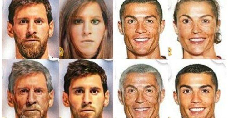 30 craques da Copa do Mundo em fotos com versões feminina, idosa e jovem