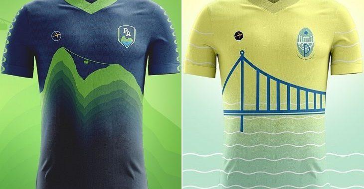 Como seriam as camisas de futebol de pontos turísticos emblemáticos do Brasil?