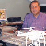 Gustavo usa drones e voos de helicópteros para fazer fotos aéreas (Foto: Acervo pessoal)